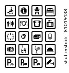 symbols hotel services. signs... | Shutterstock .eps vector #81019438
