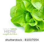 Fresh Green Salad Isolated On...