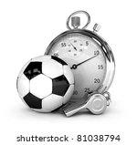 soccer concept chronometer...   Shutterstock . vector #81038794