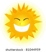 cute happy orange sun face. | Shutterstock .eps vector #81044959