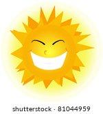 cute happy orange sun face. | Shutterstock .eps vector #81044959