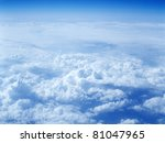 clouds from above  taken from... | Shutterstock . vector #81047965