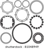 circle   ring designs | Shutterstock .eps vector #81048949