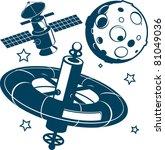 satellites | Shutterstock .eps vector #81049036