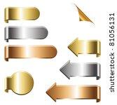 metal clip set   Shutterstock .eps vector #81056131