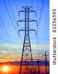electric grid network power... | Shutterstock . vector #81056593