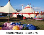 circus tents in prague with... | Shutterstock . vector #8105875