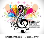 music theme background with... | Shutterstock .eps vector #81068599