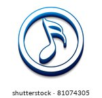 3d glossy music notes icon ...   Shutterstock .eps vector #81074305