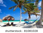perfect caribbean beach in... | Shutterstock . vector #81081028