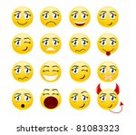 set of cool smiles. | Shutterstock . vector #81083323