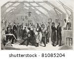 old illustration of refectory... | Shutterstock . vector #81085204