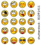 set of avatars. many  various... | Shutterstock .eps vector #81091411