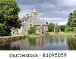 abbey of lucerne in france - stock photo