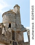 tower of a castle in France - stock photo