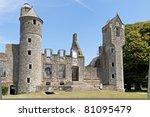 castle ruin in France - stock photo