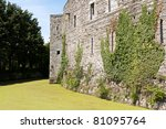 castle in normandy france - stock photo