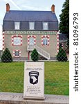 world war 2 dead men's corner museum in normandy france - stock photo