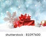 glittery blue christmas...   Shutterstock . vector #81097600