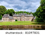 chateau in normandy france - stock photo