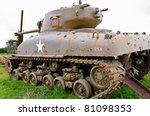 world war 2 tank - stock photo