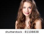 closeup portrait of beautiful...   Shutterstock . vector #81108838