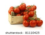 Fresh Tomatoes On The Vine In ...