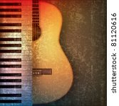 abstract grunge music...   Shutterstock . vector #81120616