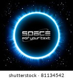 eclipse background in a blue... | Shutterstock .eps vector #81134542