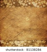 Floral Grunge Frame With Autum...