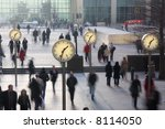 Clocks In London\'s Docklands