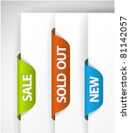 set of eshop tags for new  sale ...   Shutterstock .eps vector #81142057