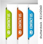 contact us labels   stickers... | Shutterstock .eps vector #81142060