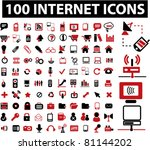 100 internet icons  signs ... | Shutterstock .eps vector #81144202
