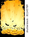 grungy halloween background... | Shutterstock .eps vector #81145789