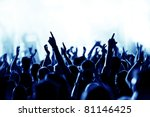 silhouettes of concert crowd in ... | Shutterstock . vector #81146425