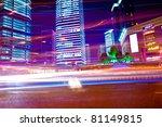 the light trails on the modern...   Shutterstock . vector #81149815