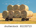 Agriculture Straw Wagon In Far...
