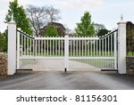 Gate And Driveway Of A Country...