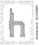 alphabet of printed circuit... | Shutterstock .eps vector #81156889