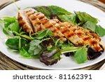 grilled chicken breast in... | Shutterstock . vector #81162391