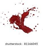 red splash | Shutterstock . vector #81166045