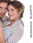 young attractive couple hugging   Shutterstock . vector #81169975