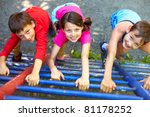 three little children climbing... | Shutterstock . vector #81178252