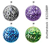 the four disco balls  black ...   Shutterstock .eps vector #81210889