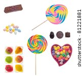 assorted candies and sweets... | Shutterstock . vector #81221881