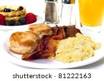 big country breakfast with... | Shutterstock . vector #81222163
