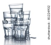 Stack Of Water Glasses