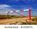 Gate Barrier On Countryside...