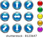 arrow buttons | Shutterstock .eps vector #8123647
